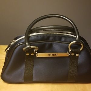 XOXO purse Navy Blue with black trim